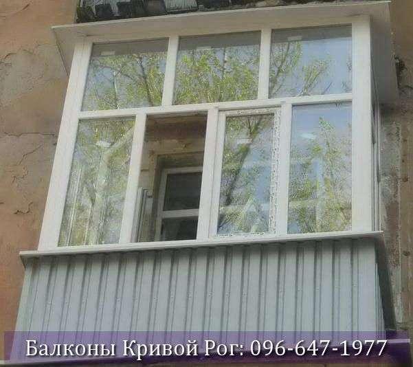 Отделка балкона снаружи профнастилом в Кривом Роге