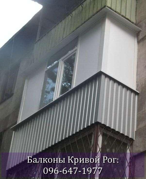 Обшить балкон в хрущёвке серым профлистом
