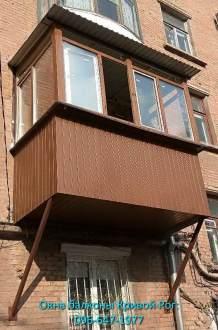 обшивка балкона профлистом Кривой Рог