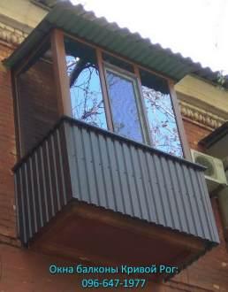 наружная обшивка балкона профлистом Кривой Рог