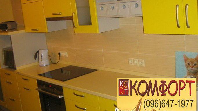кухня в жёлтом цвете