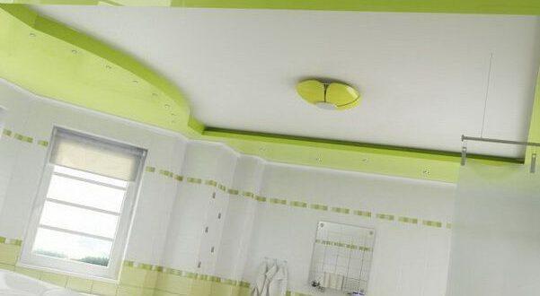 натяжной потолок ванная